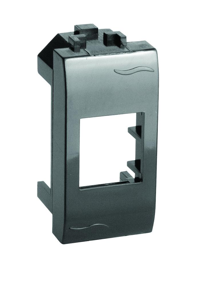 Адаптер для двух информационных разъемов Keystone, черный, 2мод.