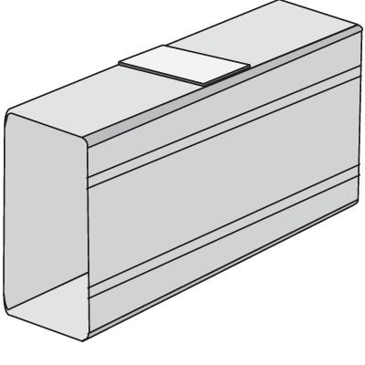 SGAN 80 Накладка на стык профиля