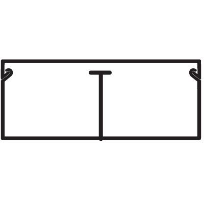 TMC 40/2x17 Миниканал с перегородкой