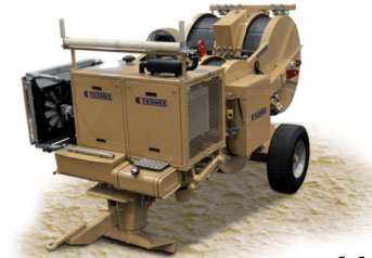 Гидравлическая тормозная машина FRT607, сила тяги/торм. 3 х 45 кН или 1 х 90 кН + 1 х 45 кН