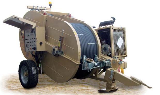 Гидравлическая натяжная-тормозная (реверсивная) машина AFB616, сила тяги/торм. 2 х 70 кН или 1 х 140 кН