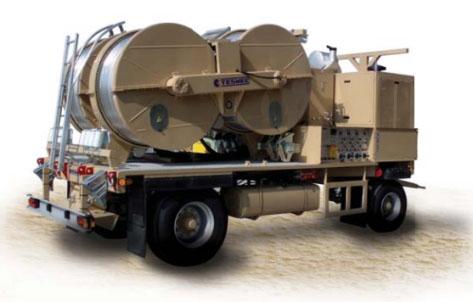 Гидравлические натяжные -тормозные (реверсивные) машины AFQ705-AFQ703, сила тяги/торм. 4 х 45 кН или 2 х 90 кН или 1 х 180 кН