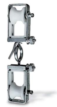 Ролик с двойным шкивом для оптико-волоконного кабеля ABR021