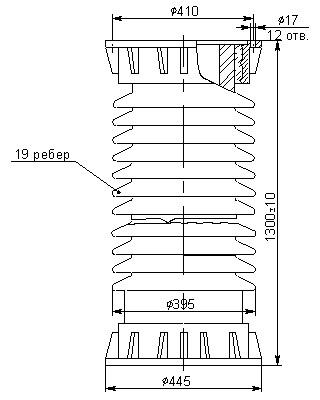 Керамические армированные изоляторы ИВВ