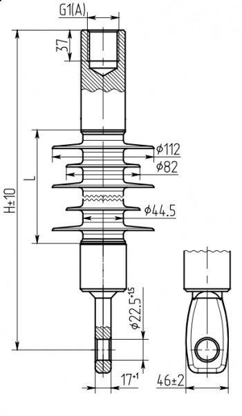 Изолятор ФСПКр 70/3,3-25-27,5 кВ