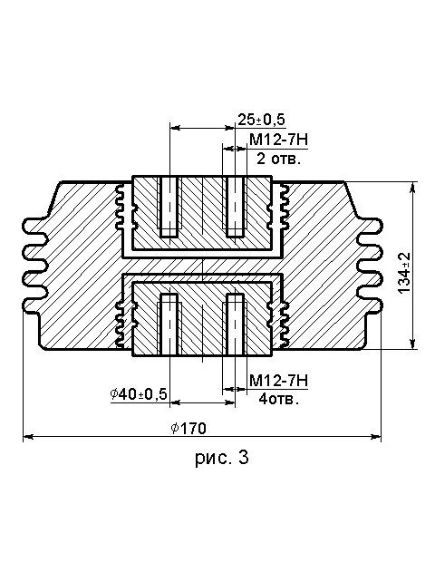 Опорные фарфоровые изоляторы ИО и ИОР 10-20 10 кВ