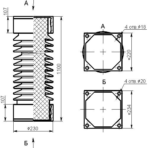 Изоляторы ИОС 110-2000, ИОС 110-2000-01