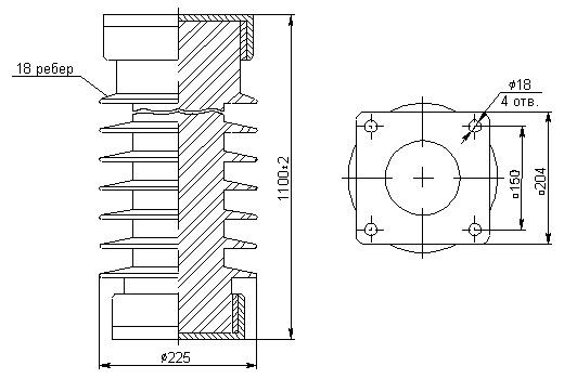Изоляторы ИОС 110-600, ИОС 110-600М