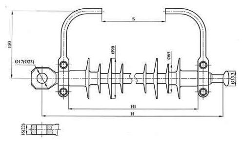 Изолятор для подвески троса ЛКГ70(120)