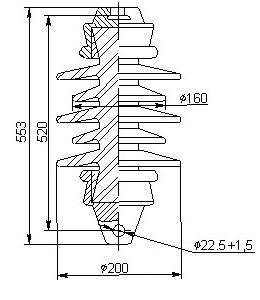 Керамические изоляторы ПСФ 100-25 27,5 кВ 1-2