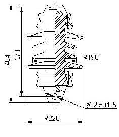 Керамические изоляторы ПСФ 100-3,0 3,3 кВ
