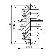 Керамические изоляторы ПСФ 3,3 кВ (01, 02, 03)