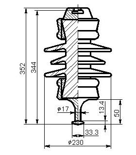 Изоляторы ПСФ 3,3 кВ (05, 06)