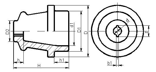 Изоляторы составные, для радио и связи