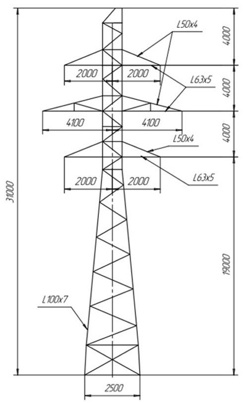 Промежуточные опоры П110-2