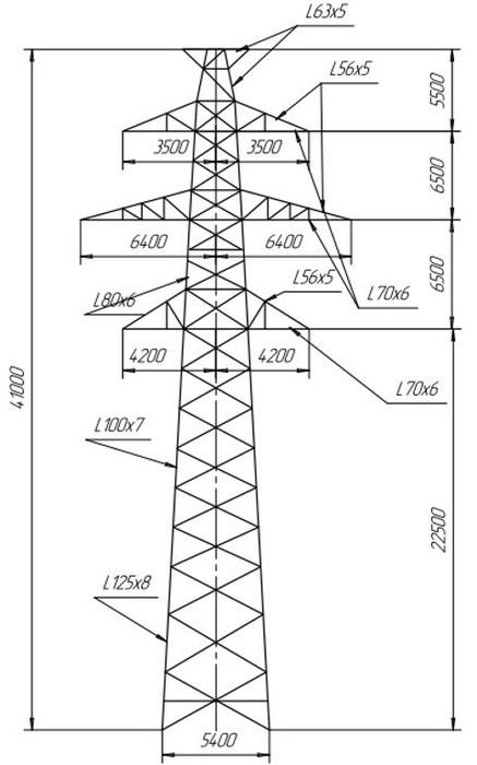 Промежуточные опоры П220-2т