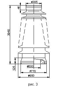 Неармированные покрышки для маслонаполненных вводов 220 и 500 кВ