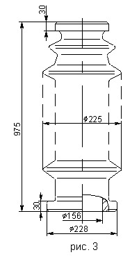 Покрышки неармированные для маслонаполненных вводов 110, 220 кВ П420-975