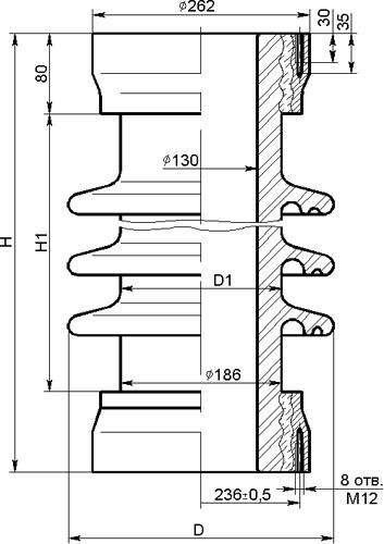 Покрышки ПКДА фарфоровые армированные для конденсаторов связи