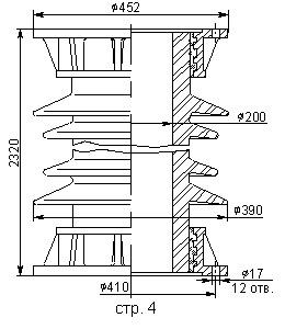 Армированные покрышки ПВЭ для элегазовых выключателей