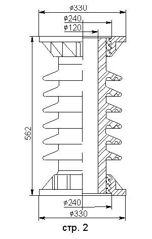 Армированные покрышки ПВК, ПОВ для вакуумных выключателей 35 кВ
