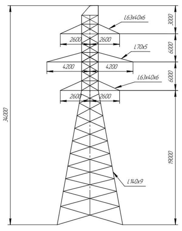 Промежуточные опоры ПС110-10В