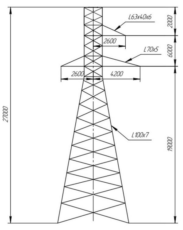 Промежуточные опоры ПС110-9В