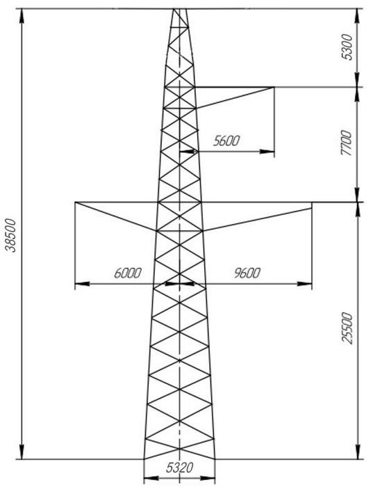 Промежуточные опоры ПС330-5