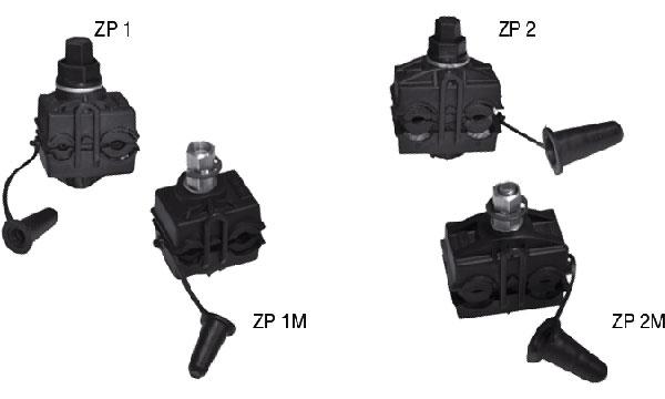 Зажимы переходные прокалывающие для электрического соединения СИП и неизолированных проводов типа ZP